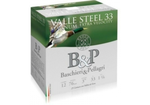 """OSA2016-B&P VALLE STEEL 12G 3"""" 76MM 33GM #2 25RNDS"""