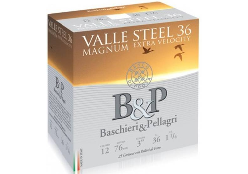 OSA2021-B&P VALLE STEEL 12G 76MM 36GM #3 25RNDS