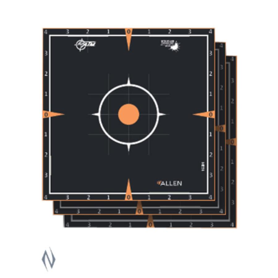 ALLEN EZ AIM SPLASH ADHESIVE SIGHT IN GRID TARGET 8X8 6PK (NIO385)