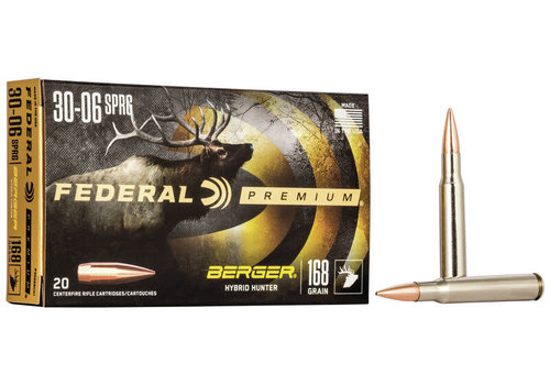 FEDERAL BERGER HUNTER 30-06 SPRG 168GR 20RNDS (NIO109)