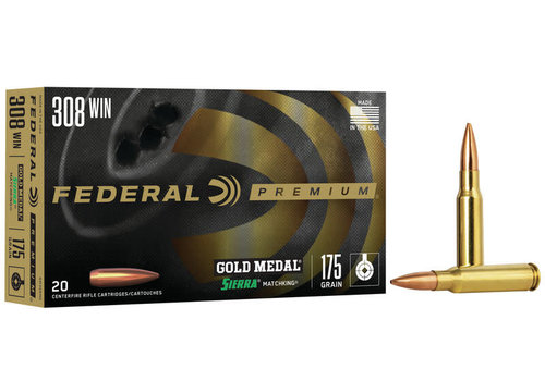 FEDERAL MATCHKING 308WIN 175GR GOLD MEDAL 20RND (NIO103)