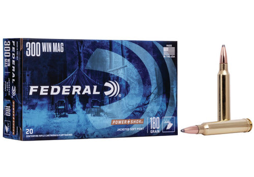 FEDERAL POWER-SHOK 300 WIN MAG 180GR JSP 20RND (NIO292)