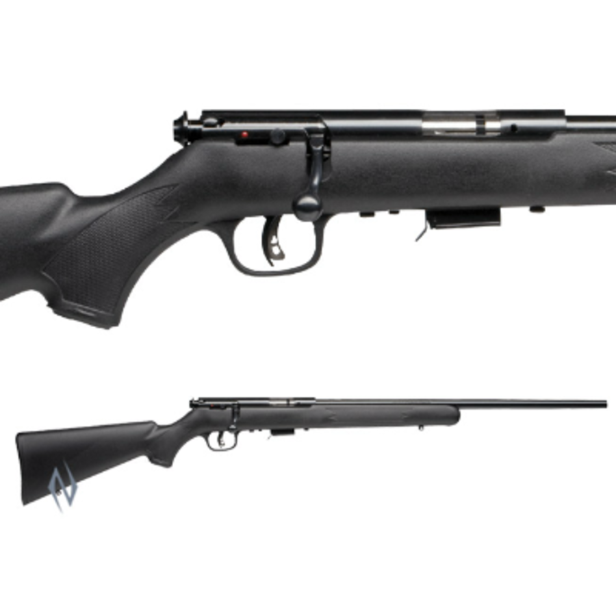 NIO332-SAVAGE 93 R17 BLUED SYNTHETIC PACKAGE 17HMR