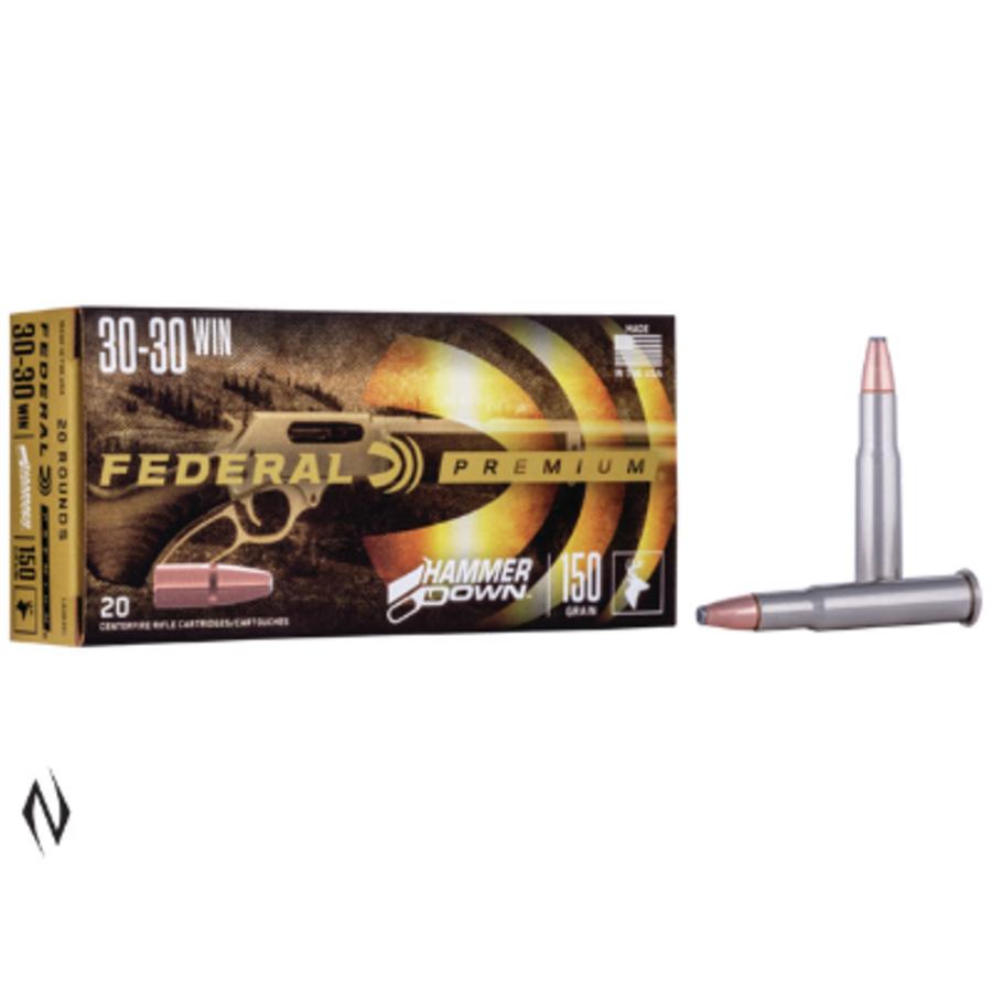 FEDERAL 30-30WIN 150GR FN HAMMER DOWN 20RNDS (NIO106)