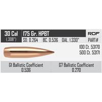 NOSLER RDF 30CAL .308 175GR HPBT 100P #53170 (NIO1074)