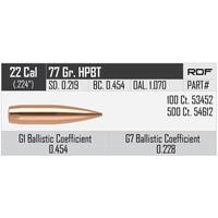 NOSLER RDF 22CAL .224 77GR HPBT 100P #53452 (NIO1075)