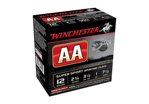 WINCHESTER AA SUPER SPORTING 12G 70MM 28GM #7.5 25RNDS (WIN5557)