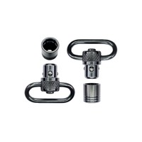 "GROVTEC PUSH BUTTON SWIVEL SET BLACK OXIDE FINISH - 1"" LOOPS PAIR(CRK035)"