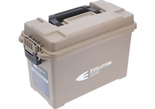EVO MEDIUM AMMO BOX/DRY BOX DESERT TAN WEATHERPROOF (EVO048)