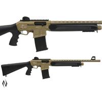 "NIO093-ADLER B230 12G 20"" TACTICAL FDE STRAIGHT PULL SHOTGUN 5 SHOT DM"