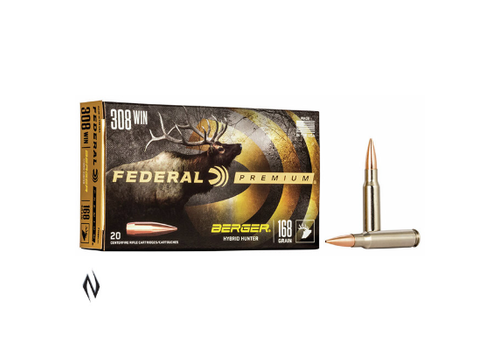 FEDERAL BERGER HUNTER 308 WIN 168GR 20RND (NIO104)