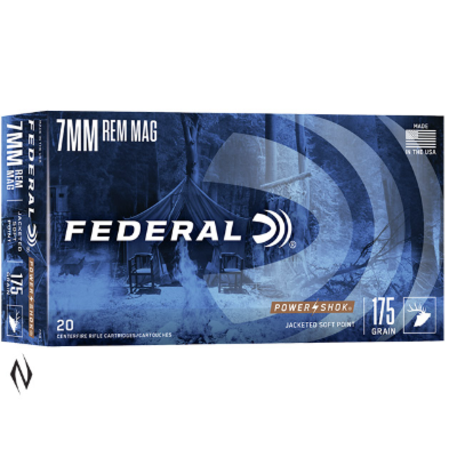FEDERAL POWER-SHOK 7MM REM MAG 175GR SP 20RNDS (NIO088)