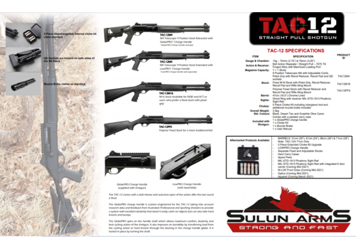 SULUN TAC 12 BLACK FIXED STOCK (SUL012)