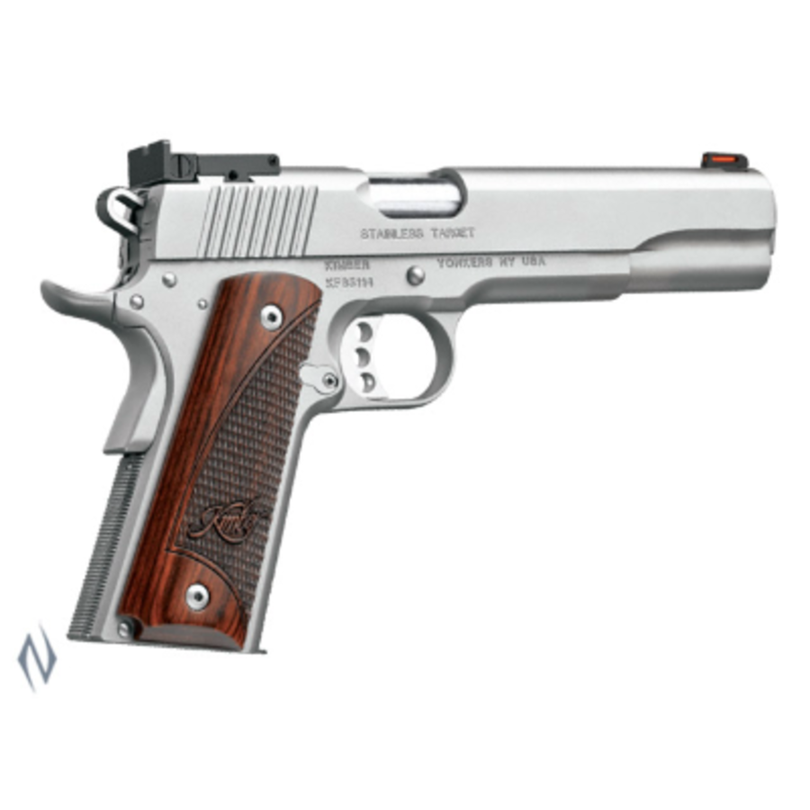 KIMBER 1911 STAINLESS TARGET LONG SLIDE 45ACP 152MM 7RDS (NIO2388)