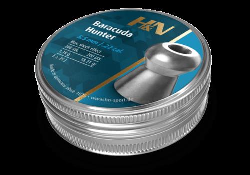 ALC010-PELLETS-H&N BARACUDA HUNTER .22 200RNDS(ALC010)