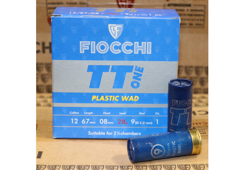 SLAB-TAS075-FIOCCHI ITALY TT ONE 12G 28GR #9 1300FPS 250RNDS