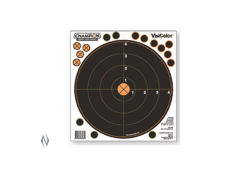 NIO1245-CHAMPION TARGET VISICOLOR ADHESIVE SIGHT IN 100YD 5 PACK + PATCHES