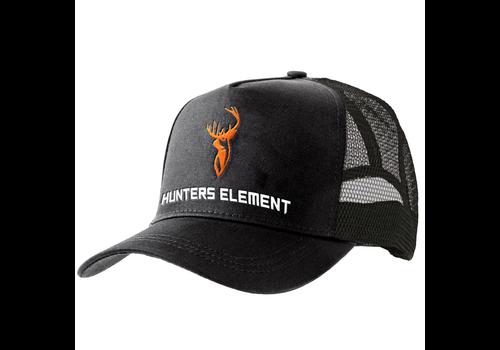HUE969-HUNTERS ELEMENT GRANITE TRUCKER CAP BLACK