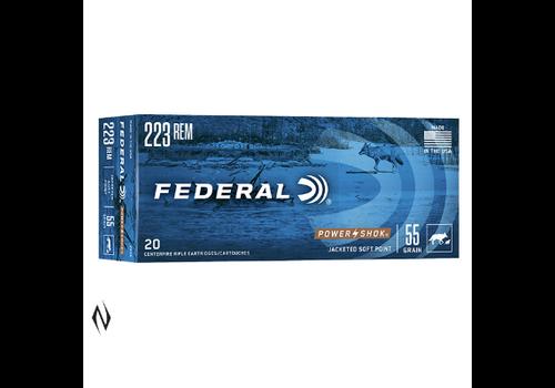 NIO172-FEDERAL 223 REM 55GR SP POWER-SHOK 20RNDS
