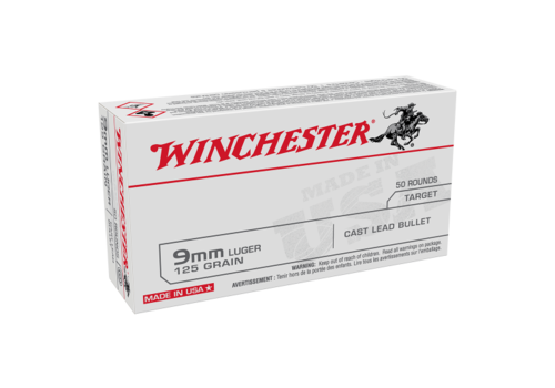 WIN068-WINCHESTER USA VALUE PACK 9MM 125GR LRN 50RNDS