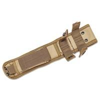 AOS005-KA-BAR BK16 BECKER SHORT DROP POINT, BROWN CORDURA SHEATH, STRAIGHT EDGE