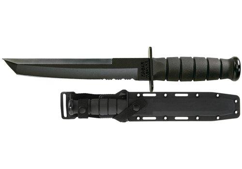 AOS009-KA-BAR TANTO-BLACK, BLACK HARD PLASTIC SHEATH, SERRATED EDGE