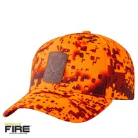 HUE963-HUNTERS ELEMENT RED STAG CAP DESOLVE FIRE