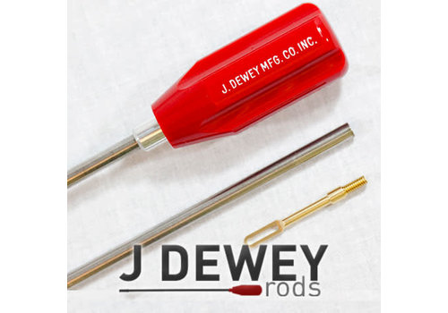 """SJS052-Dewey Deluxe 1 Piece Stainless Steel Rods (44"""" Rod all cal. Rifle)"""