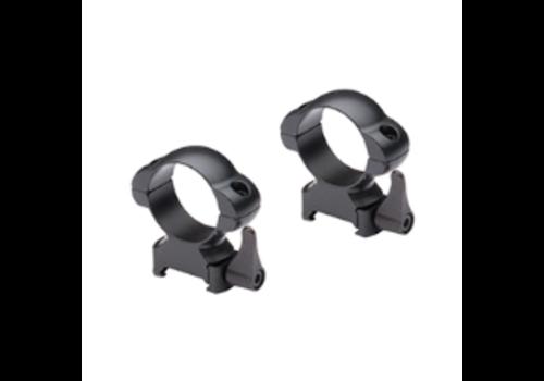 "OSA8677-NIKKO STIRLING 1"" Weaver Steel Lok Rings High Matte Black Quick Release"