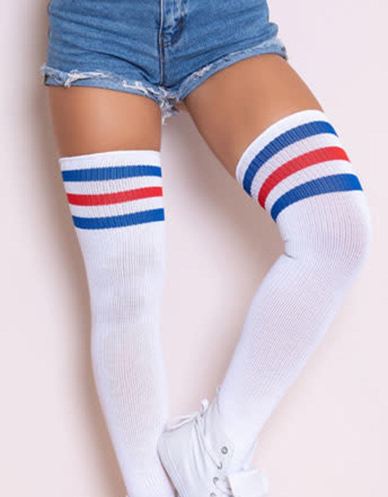 Leg Avenue Athletic Striped Kneed Highs