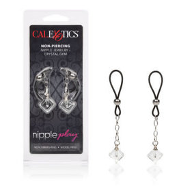 CALEXOTICS Nipple Play Non-Piercing Nipple Jewelry Crystal Gem