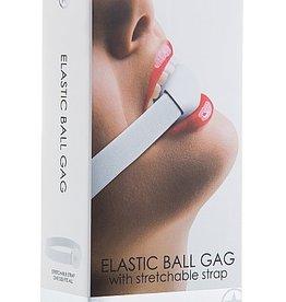 Shots Ouch! Elastic Ball Gag - White