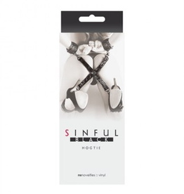 NS Novelties Sinful Hogtie BLACK