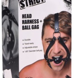 XR Brands STRICT Head Harness + Ball Gag