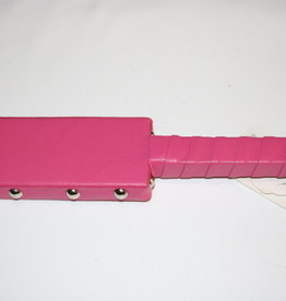 """Touch of Fur 12"""" leather paddle pink"""