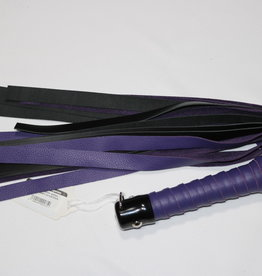 "DragonTailz 24"" deluxe leather flogger purple/black"