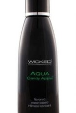 Wicked Aqua Candy Apple Flavored Water-Based Lubricant - 4 oz.