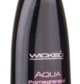 Wicked Wicked Aqua Water Based Flavored Lubricant Pomegranate 2 Ounce