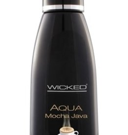 Wicked Aqua Mocha Java Flavored Water-Based Lubricant - 4 oz.