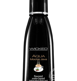 Wicked Wicked Aqua Water Based Flavored Lubricant Mocha Java 2 Ounce