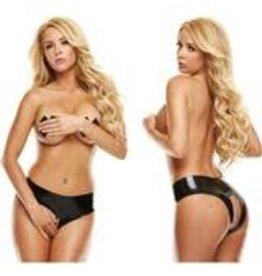 Latex Wear Premium Latex Crotchless Panty Black