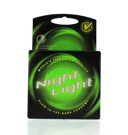 Global Protection Corp. Night Light Glow In The Dark Condoms Lubricated 3 Pack