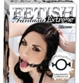 Pipedream Fetish Fantasy Extreme Silicone O Ring Gag - Black