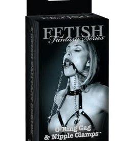 Pipedream Fetish Fantasy Series Ltd. Ed. O-Ring Gag & Nipple Clamps