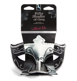 LOVEHONEY Fifty Shades of Grey Masks on Masquerade Mask Twin Pack