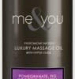 SENSUVA Me and You Massage Oil - Pomegranate Fig Coconut Plumeria - 4.2 Oz.