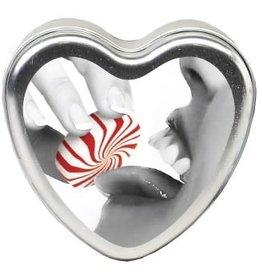 Edible Heart Candle - Mint - 4 Oz.