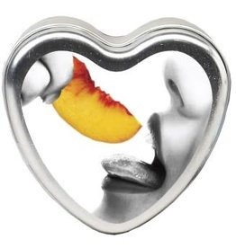Earthly Body Edible Heart Candle - Peach - 4 Oz.
