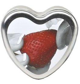 Earthly Body Edible Heart Candle - Strawberry - 4 Oz.