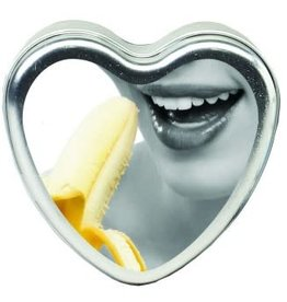Earthly Body Edible Heart Candle - Banana - 4 Oz.